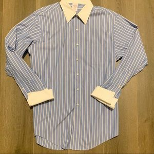 Brooks Brothers Cotton French Cuff Button Up Shirt